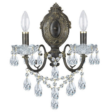 Crystorama Legacy Collection 2 Light Wall Sconce