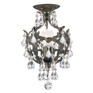 Crystorama Legacy Collection 3 Light Flush Mount