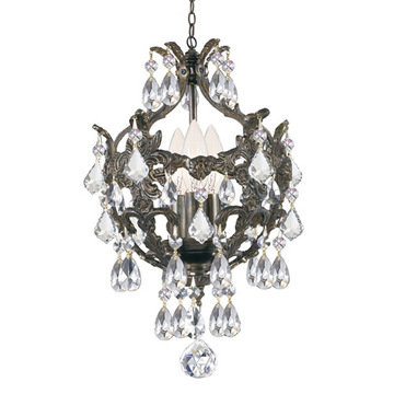 Crystorama Legacy Collection 3 Light Mini Chandelier