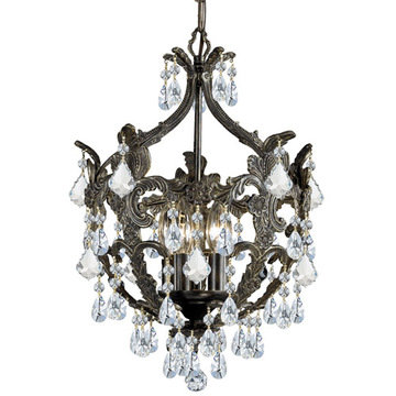 Crystorama Legacy Collection 5 Light Mini Chandelier