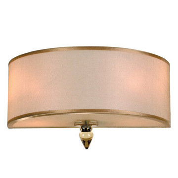 Crystorama Luxo Collection 2 Light Wall Sconce