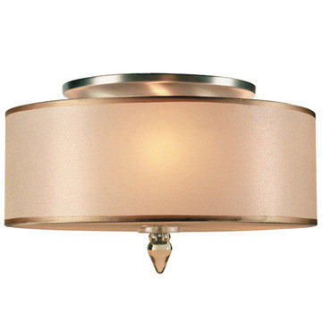 Crystorama Luxo Collection 3 Light Semi Flush Mount