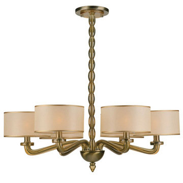 Crystorama Luxo Collection 6 Light Chandelier