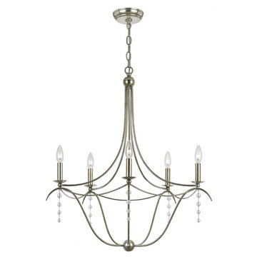 Crystorama Metro Collection 5 Light Chandelier