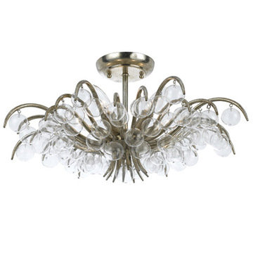 Crystorama Metro Collection 5 Light Semi Flush