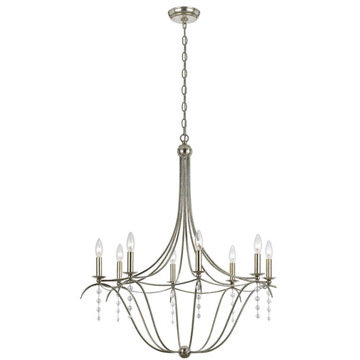 Crystorama Metro Collection 8 Light Chandelier