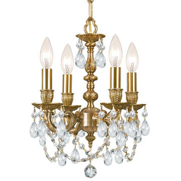 Crystorama Mirabella Collection 4 Light Mini Chandelier