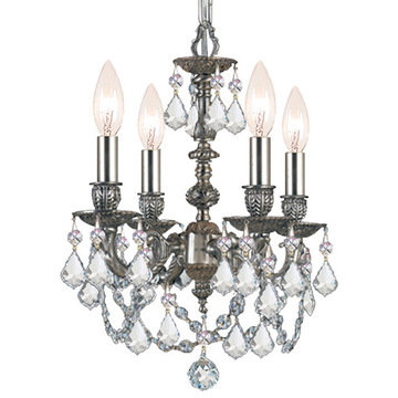 Crystorama Mirabella Collection 4 Light Pewter Mini Chandelier