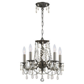 Crystorama Mirabella Collection 5 Light Pewter Chandelier