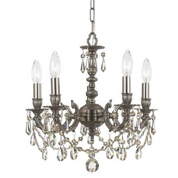 Crystorama Mirabella Collection 5 Light Pewter Mini Chandelier