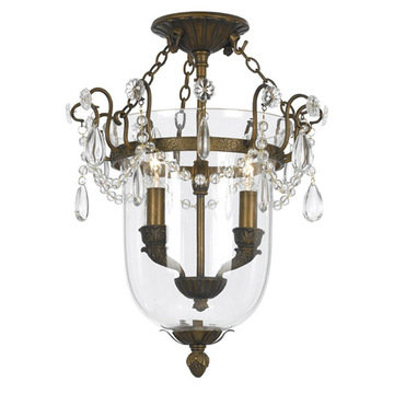 Crystorama New Town Collection 2 Light Semi Flush Mount