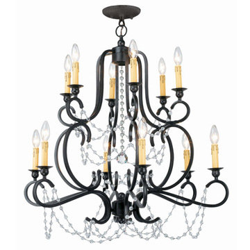 Crystorama Orleans Collection 12 Light Chandelier