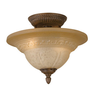Crystorama Oxford Collection 2 Light Semi Flush Mount