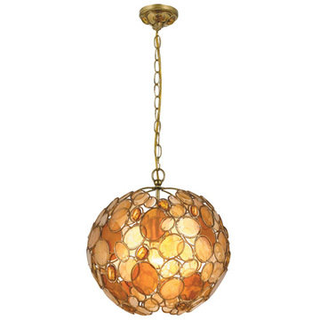 Crystorama Palla Collection 1 Light Chandelier
