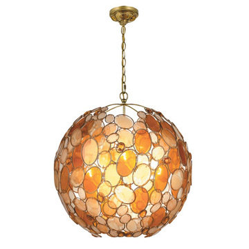 Crystorama Palla Collection 6 Light Chandelier