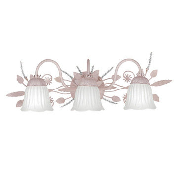 Crystorama Paris Flea Market Collection 3 Light Bath Sconce