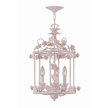 Crystorama Paris Flea Market Collection 3 Light Mini Chandelier