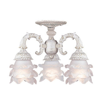 Crystorama Paris Flea Market Collection 3 Light Semi Flush Mount