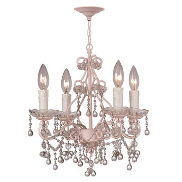 Crystorama Paris Flea Market Collection 4 Light Chandelier With Beads