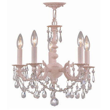 Crystorama Paris Flea Market Collection 5 Light Chandelier With Crystals