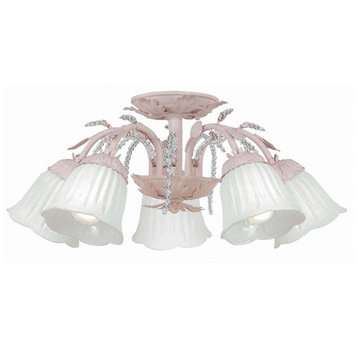 Crystorama Paris Flea Market Collection 5 Light Semi Flush
