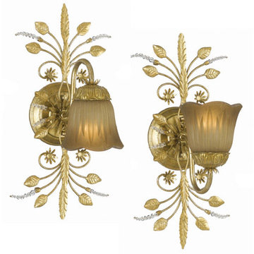 Crystorama Primrose Collection 1 Light Bath Sconce