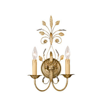 Crystorama Primrose Collection 2 Light Wall Sconce