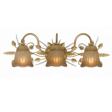 Crystorama Primrose Collection 3 Light Bath Sconce