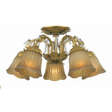 Crystorama Primrose Collection 5 Light Semi Flush