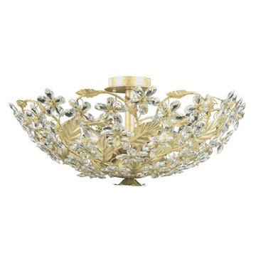 Crystorama Primrose Collection 6 Light Flush Mount