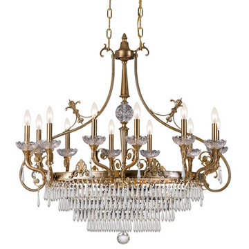Crystorama Regal Collection 12 Light Island Light