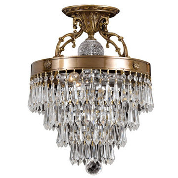Crystorama Regal Collection 3 Light Semi Flush Mount