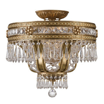 Crystorama Regal Collection 6 Light Semi Flush Mount