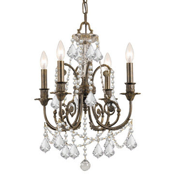 Crystorama Regis Collection English Bronze 4 Light Chandelier