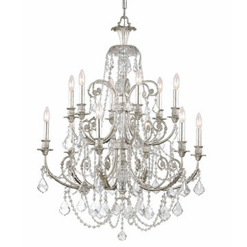 Crystorama Regis Collection Olde Silver 12 Light Chandelier