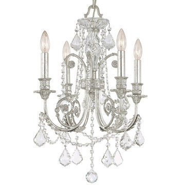 Crystorama Regis Collection Olde Silver 4 Light Chandelier