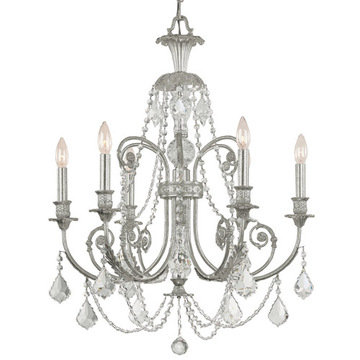 Crystorama Regis Collection Olde Silver 6 Light Chandelier