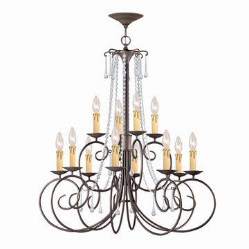 Crystorama Soho Collection 12 Light Chandelier