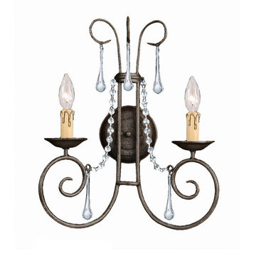 Crystorama Soho Collection 2 Light Wall Sconce