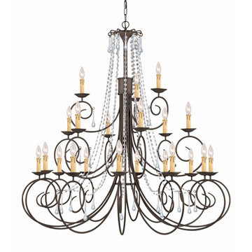 Crystorama Soho Collection 21 Light Chandelier
