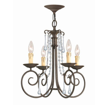 Crystorama Soho Collection 4 Light Chandelier