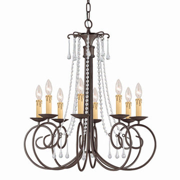 Crystorama Soho Collection 8 Light Chandelier