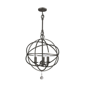 Crystorama Solaris Collection 3 Light Chandelier
