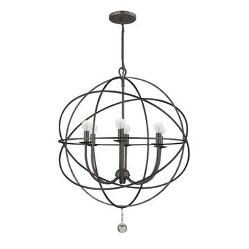 Crystorama Solaris Collection 6 Light Chandelier