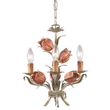 Crystorama Southport Collection 3 Light Mini Chandelier