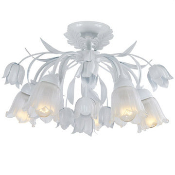 Crystorama Southport Collection 5 Light Semi Flush Mount
