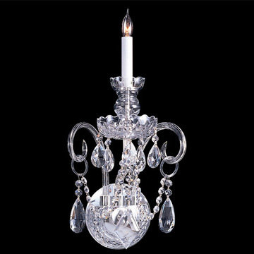Crystorama Traditional Crystal Collection 1 Light 3-Crystal Wall Sconce