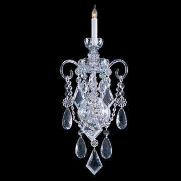 Crystorama Traditional Crystal Collection 1 Light 5-Crystal Wall Sconce
