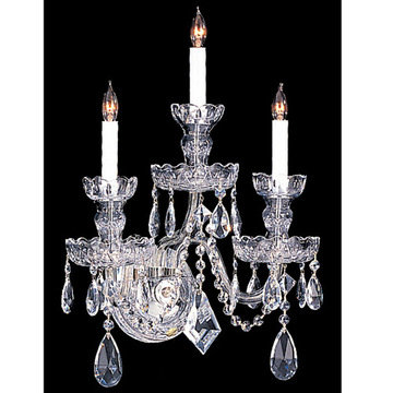 Crystorama Traditional Crystal Collection 3 Light 3-Crystal Wall Sconce