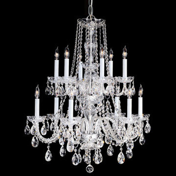 Crystorama Traditional Crystal Collection 12 Light Two Tier Chandelier